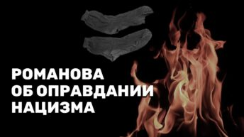 Романова об оправдании нацизма